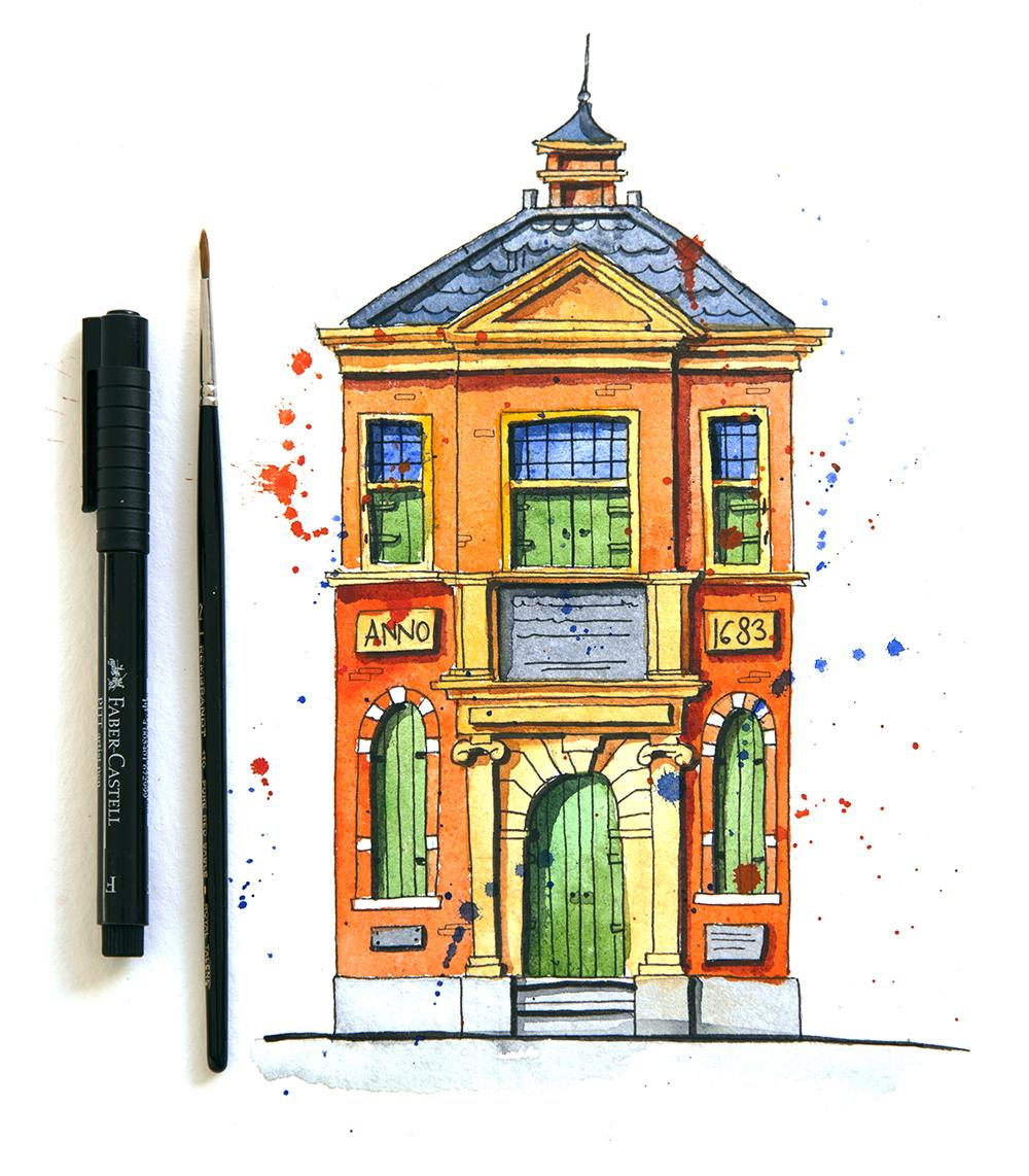 Urban Sketching for Beginners: Watercolour Sketch in 3 Steps