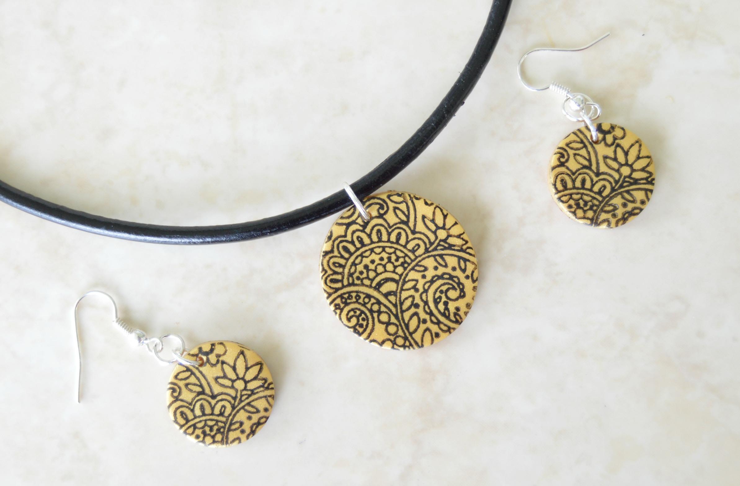 How to make a stamped clay jewelry - DIY jewelry | Sahana Ajeethan ...