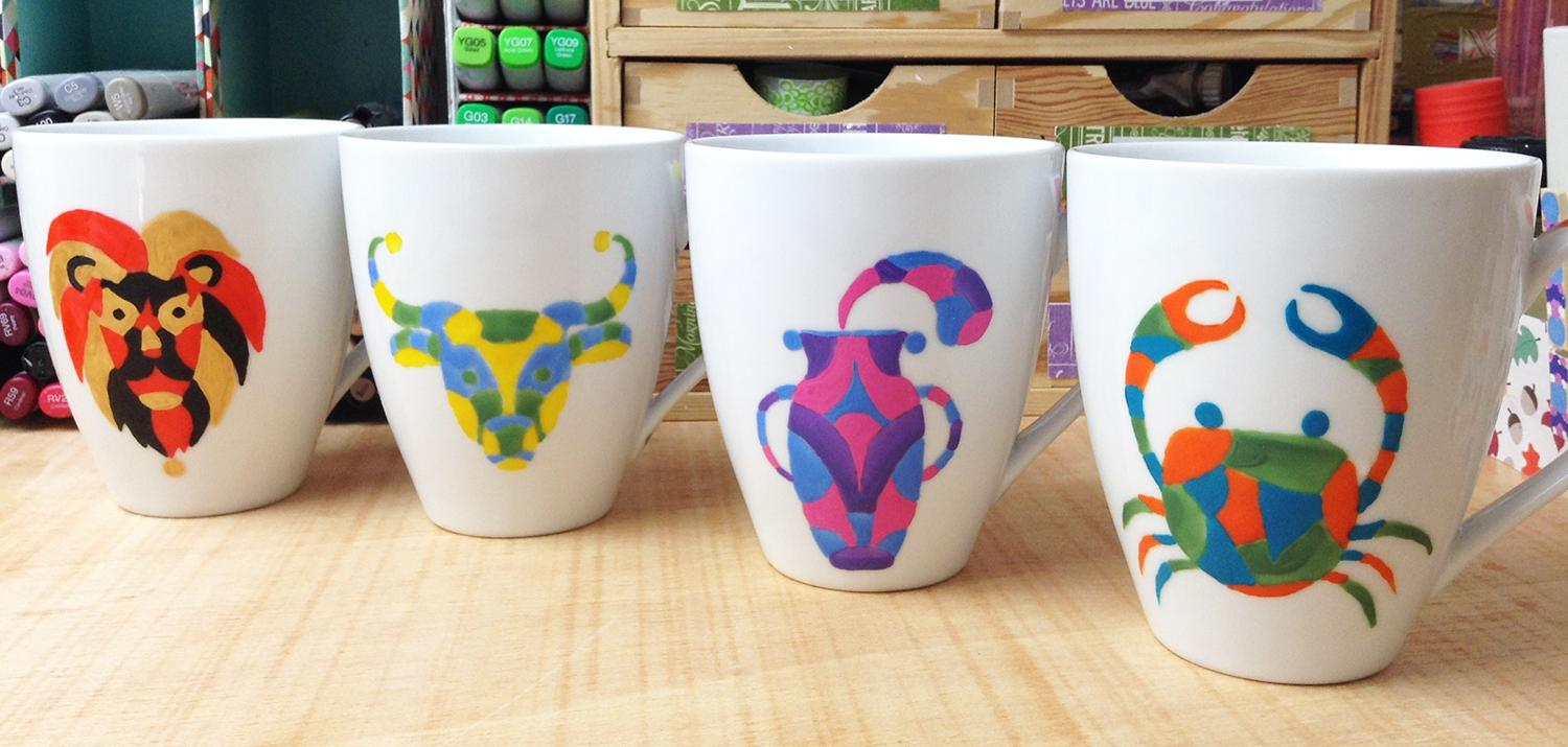 Porcelain Painting Learn How to Paint Your Own Zodiac Sign Coffee