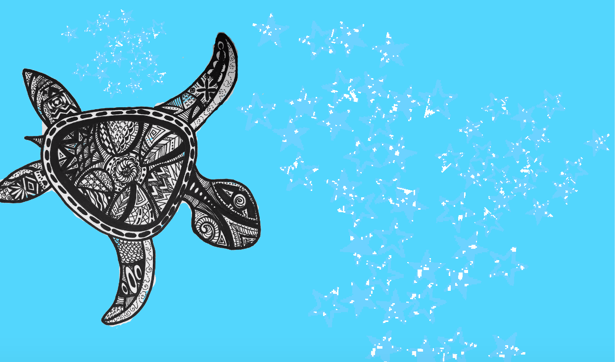 Skillshare Free Course -Simple Pattern Art: Draw an Abstract Turtle
