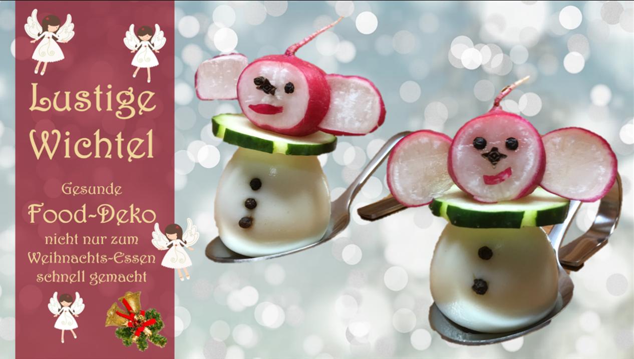 Lustige Bilder Weihnachtsessen.Lustige Wichtel Gesunde Food Deko Nicht Nur Zum Weihnachtsessen