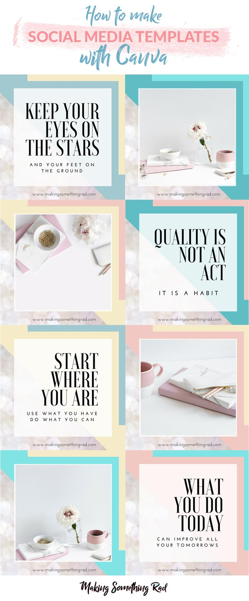 how to make social media post templates in canva free class