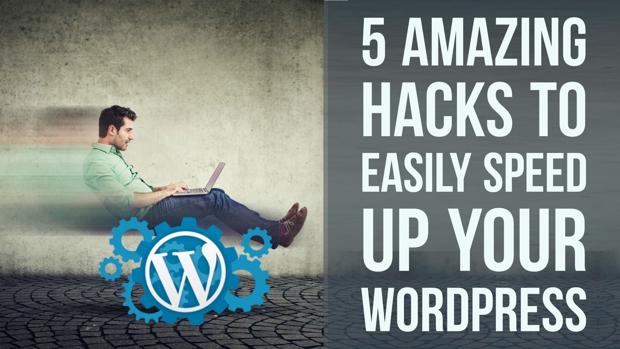 5 AMAZING HACKS TO EASILY SPEED UP YOUR WORDPRESS - Francisco Moriones - Skillshare - 웹