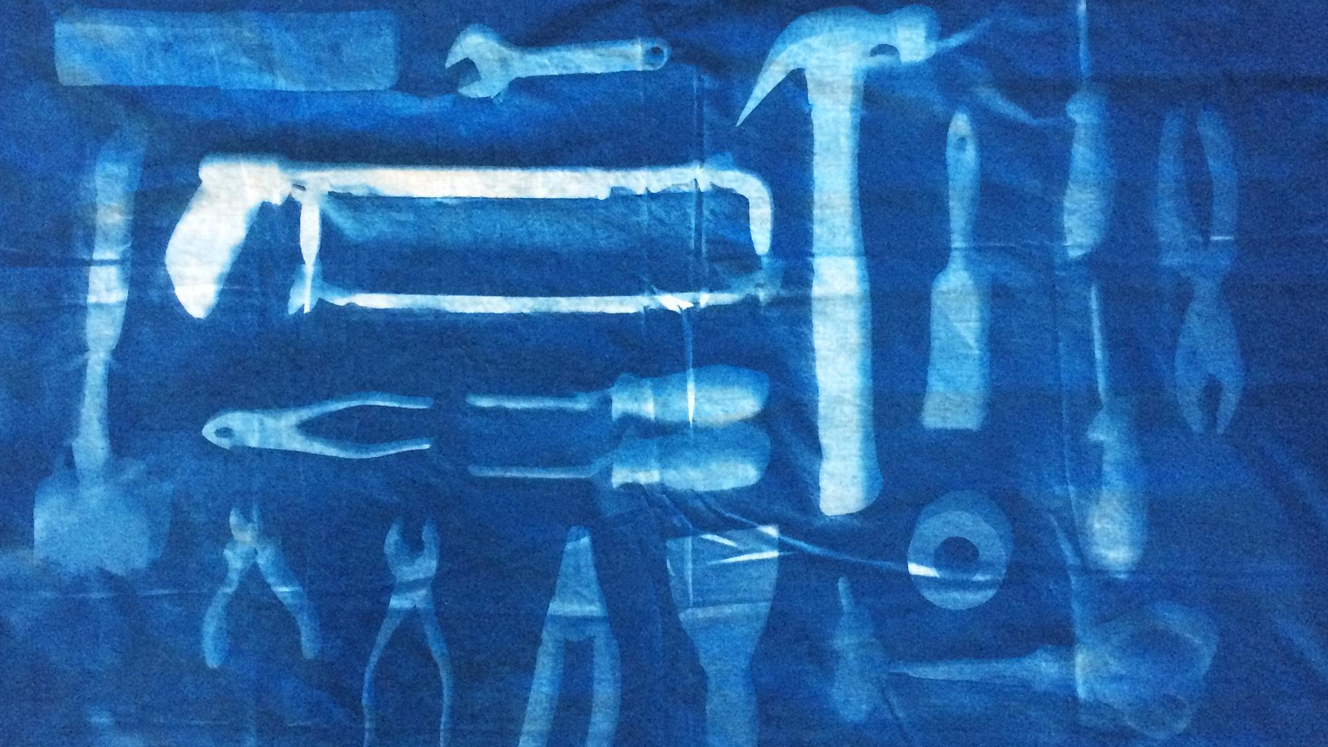 Creating A Cyanotype Photography Flat Lay Wall Hanging On Fabric