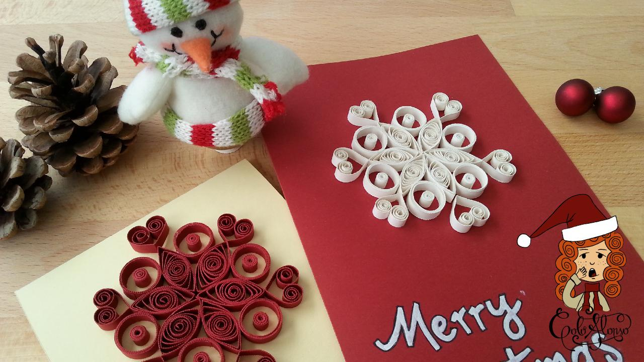 Christmas Card: Surprise Everybody with a Hand Made Quilling Card ...