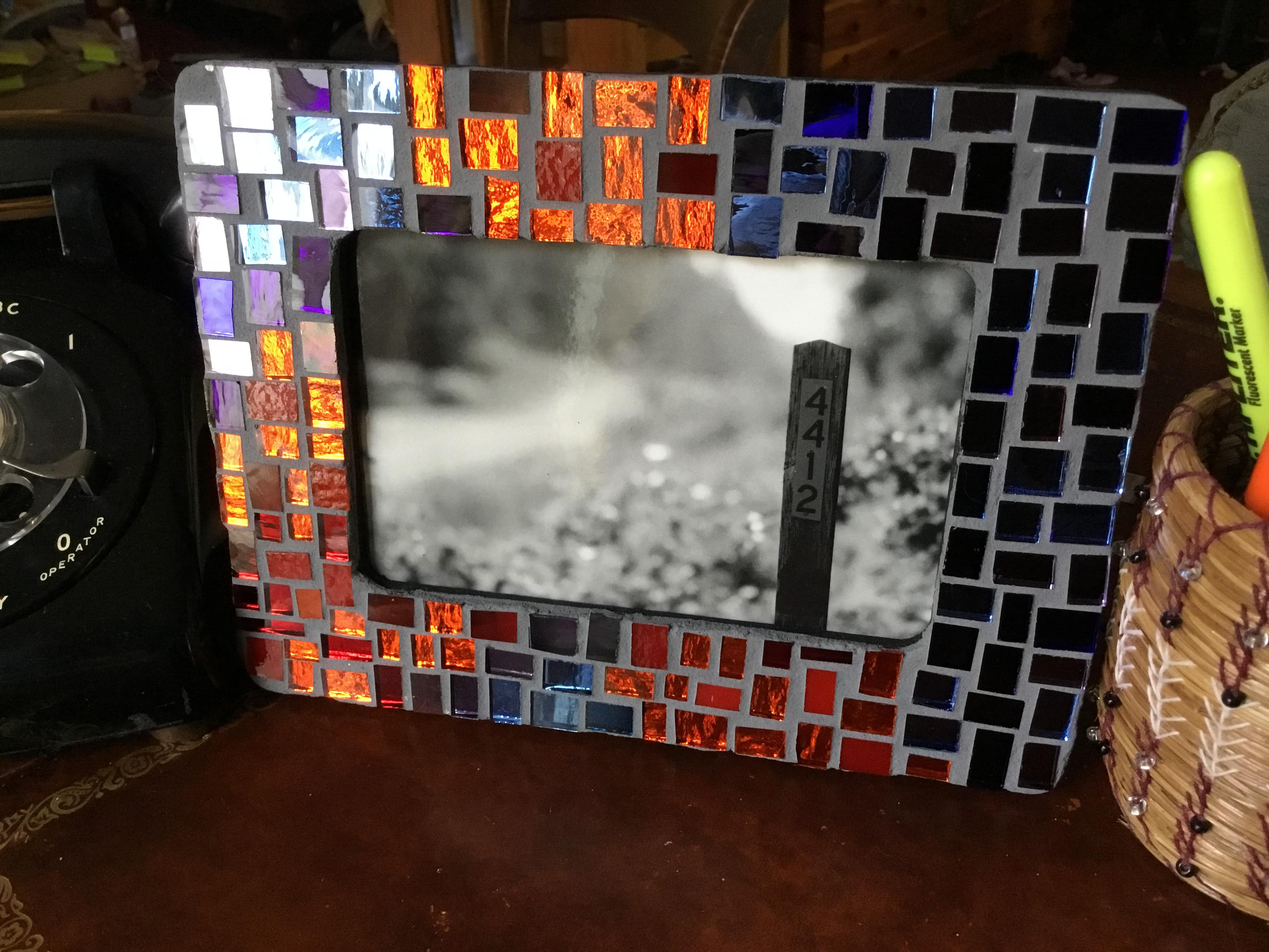Beginner Glass Mosaics Create A Picture Frame Laura Staudacher