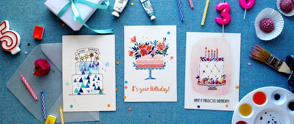 As An Illustrator Many Times I Feel Guilty Not Having Enough Cake Illustrations To Congratulate My Friends On Social Media Or Send A Hand Painted Card
