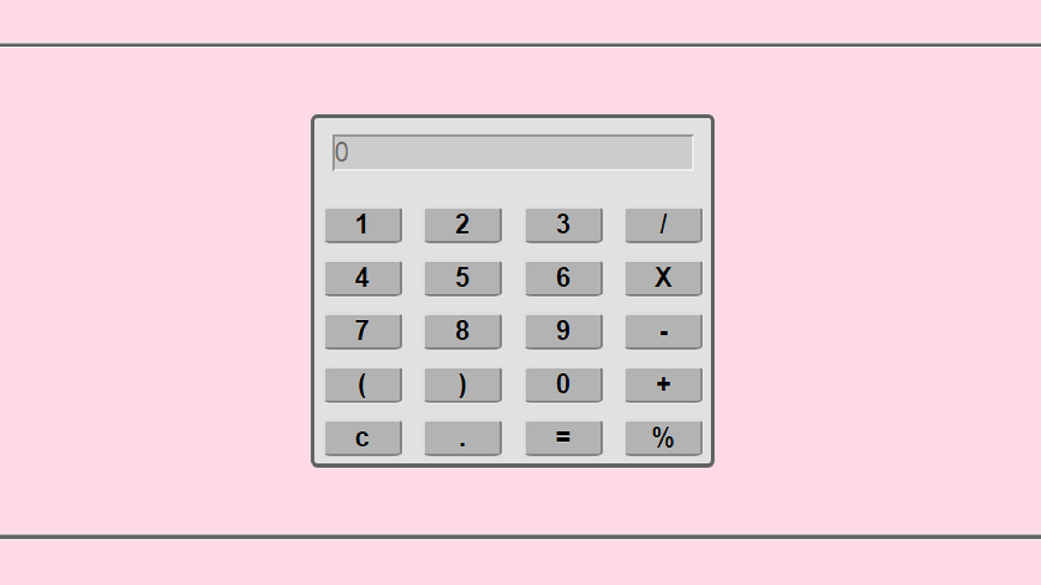 Build Your Own Calculator App with Javascript, HTML5 & CSS - Web app