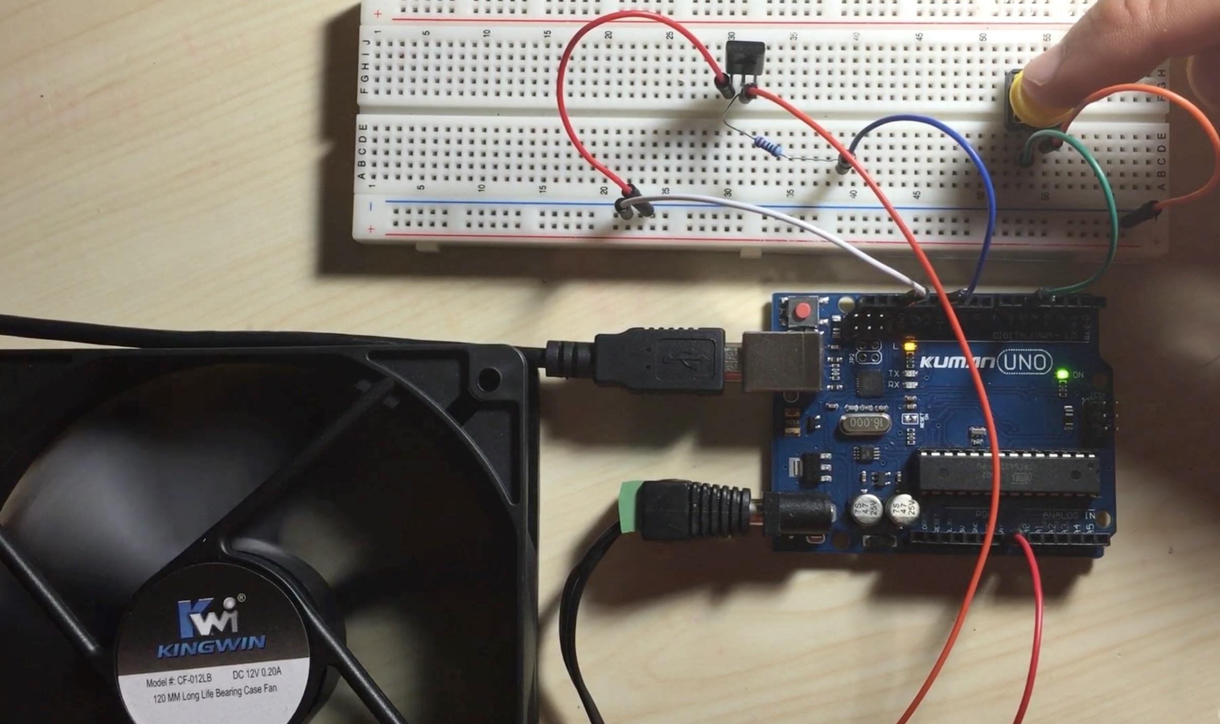 Arduino Bootcamp Projects Controlling A Cpu Fan With Button Breadboard Clone In This Project We Will Build On Our Previous Part 1 And Learn How To Use The Control
