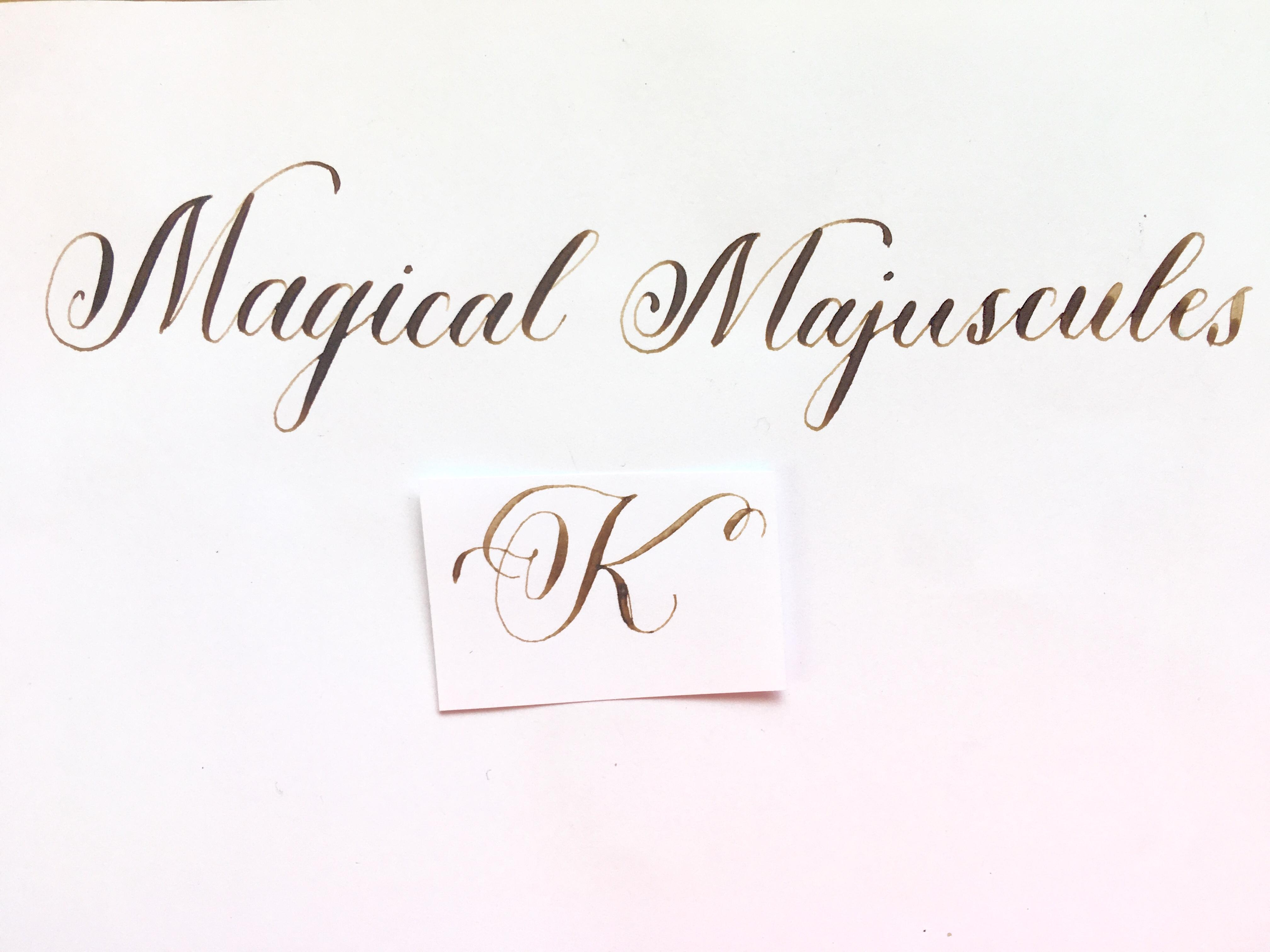 Magical Majuscules The Letter K Tracy Roach Skillshare