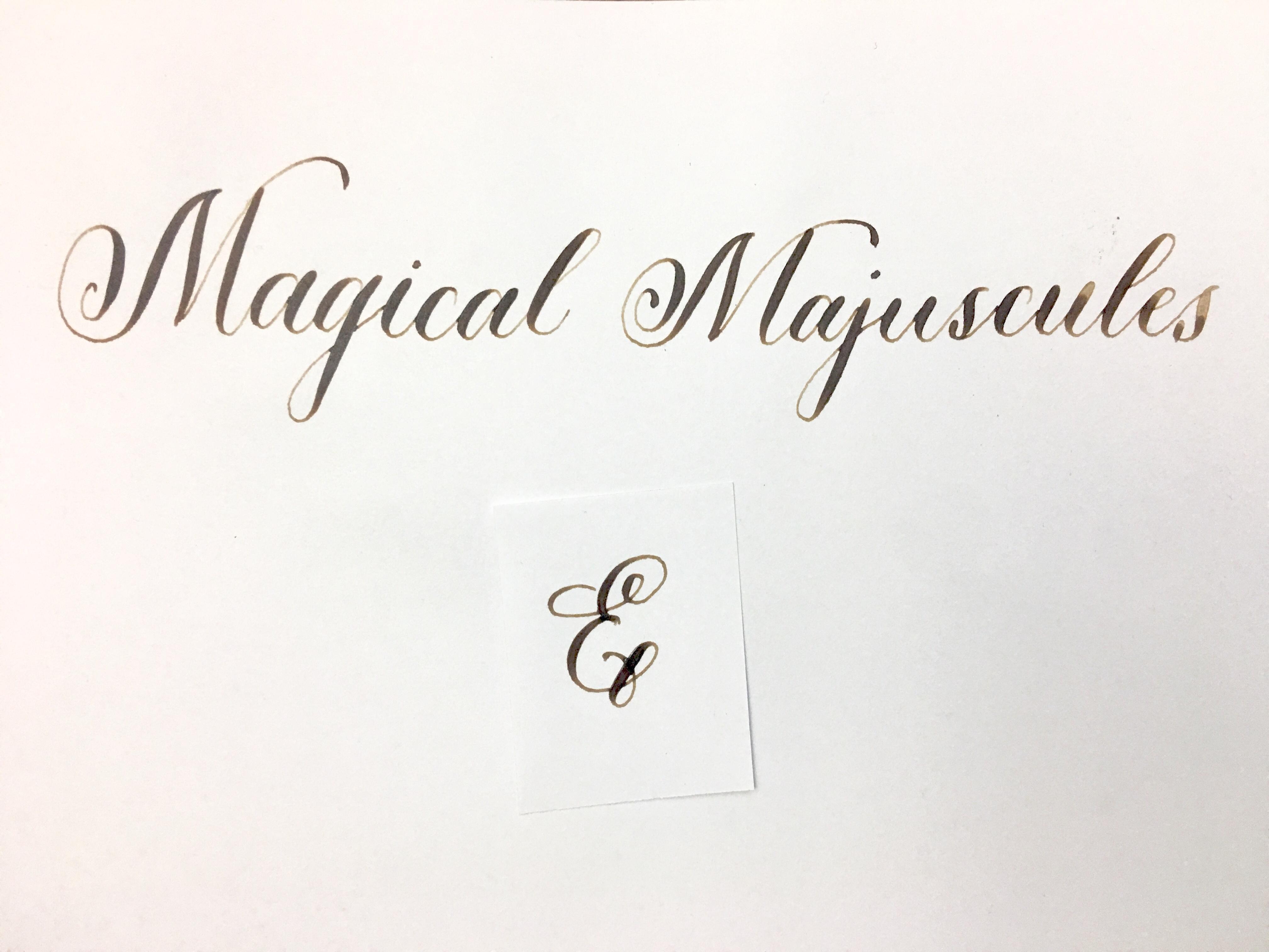 Magical Majuscules: The Letter E | Tracy Roach | Skillshare
