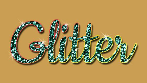 Photoshop for Lunch™ - Glitter Text, Shapes and Scrapbook