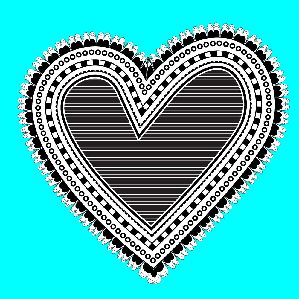 Illustrator For Lunch Doodle Style Heart Diy Brushes And Nested