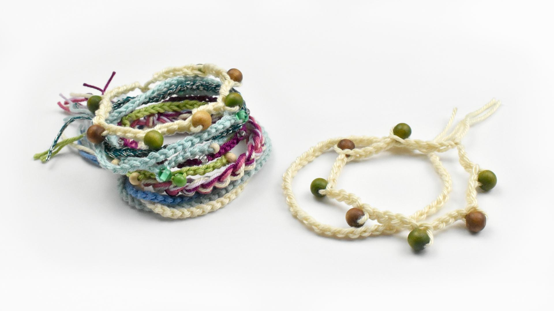 Crochet For Beginners Learn How To Make A Simple Bracelet Hazel
