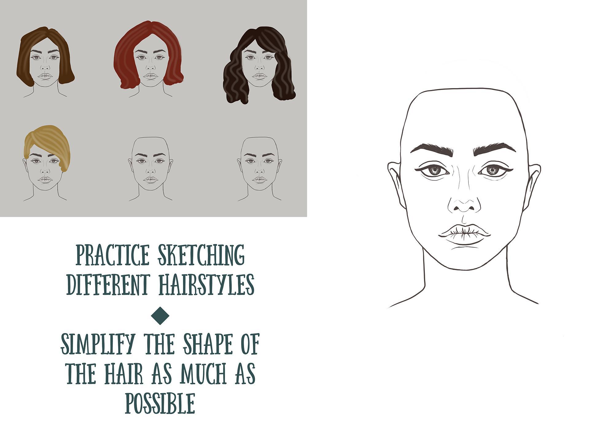 Digital Art Painting Realistic Hair Margarita Bourkova Skillshare
