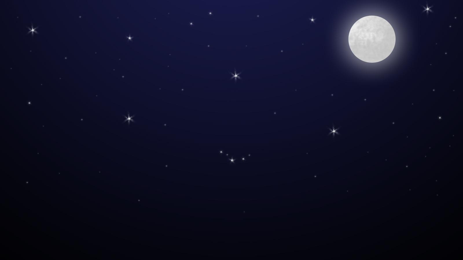 Moon sky night stars photo