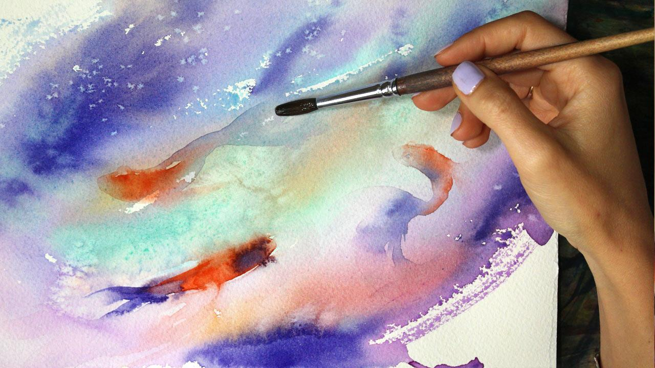 Class Projects 6 See All Fish Bubbles Easy Watercolour Paintings