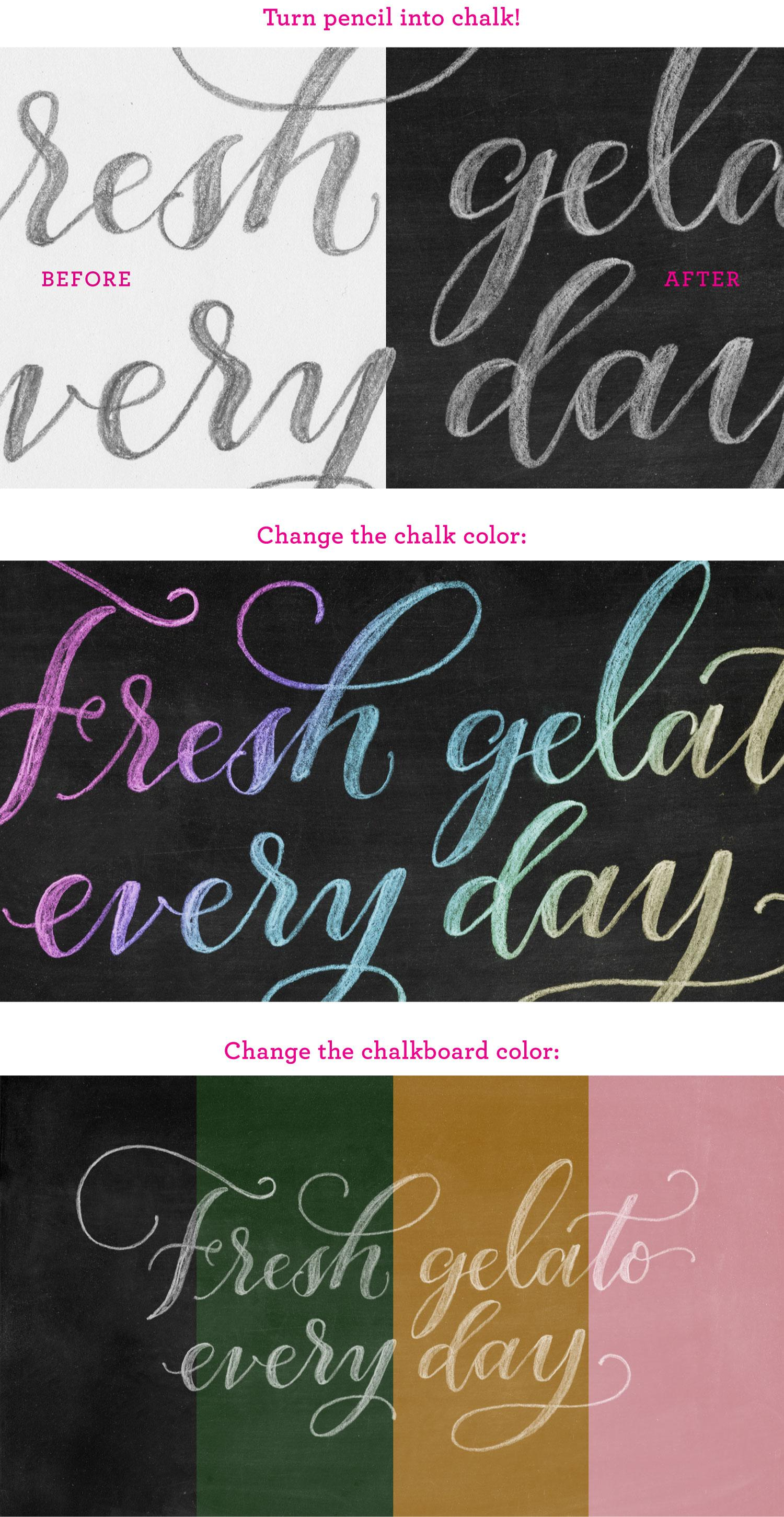 Chalk Hand Lettering Effect In Photoshop