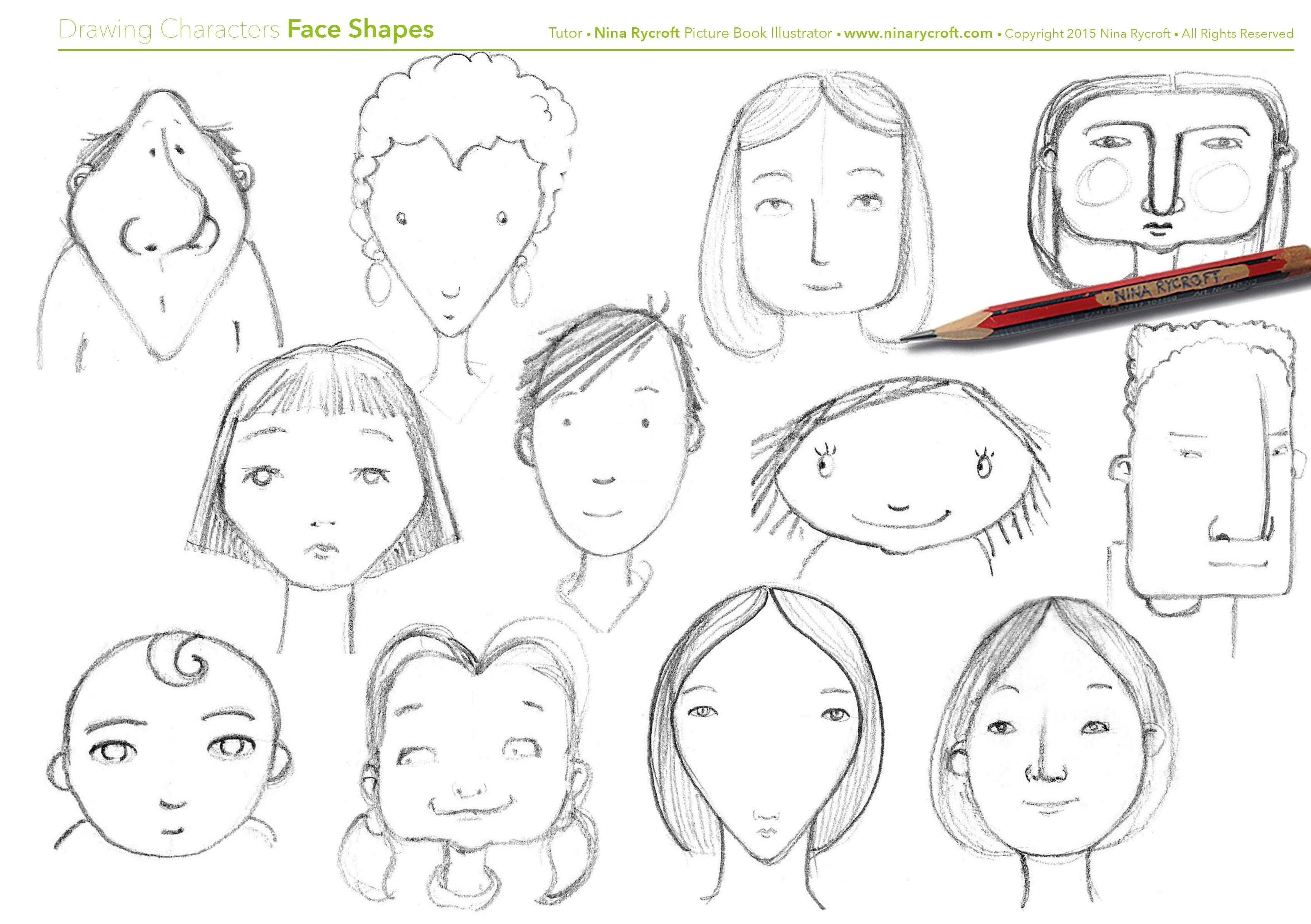 Brilliant Face Shapes Draw A Series Of Characters Using Simple Shapes Schematic Wiring Diagrams Amerangerunnerswayorg