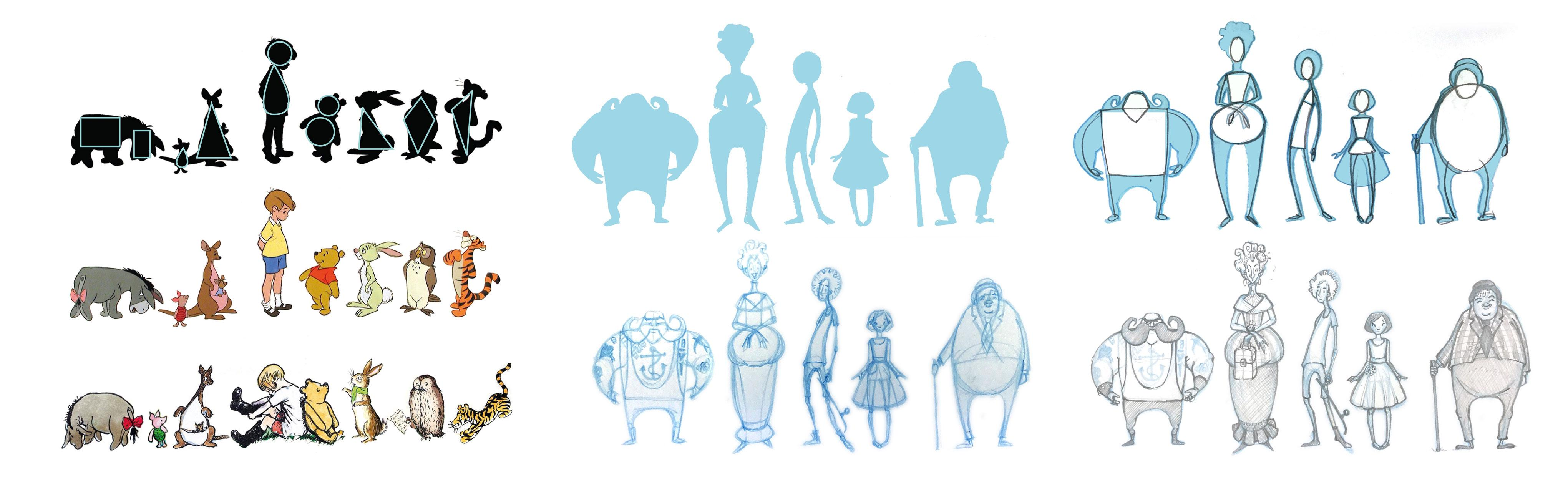 Simple Character Design Illustrator : Draw a circus of characters exploring body shape and body