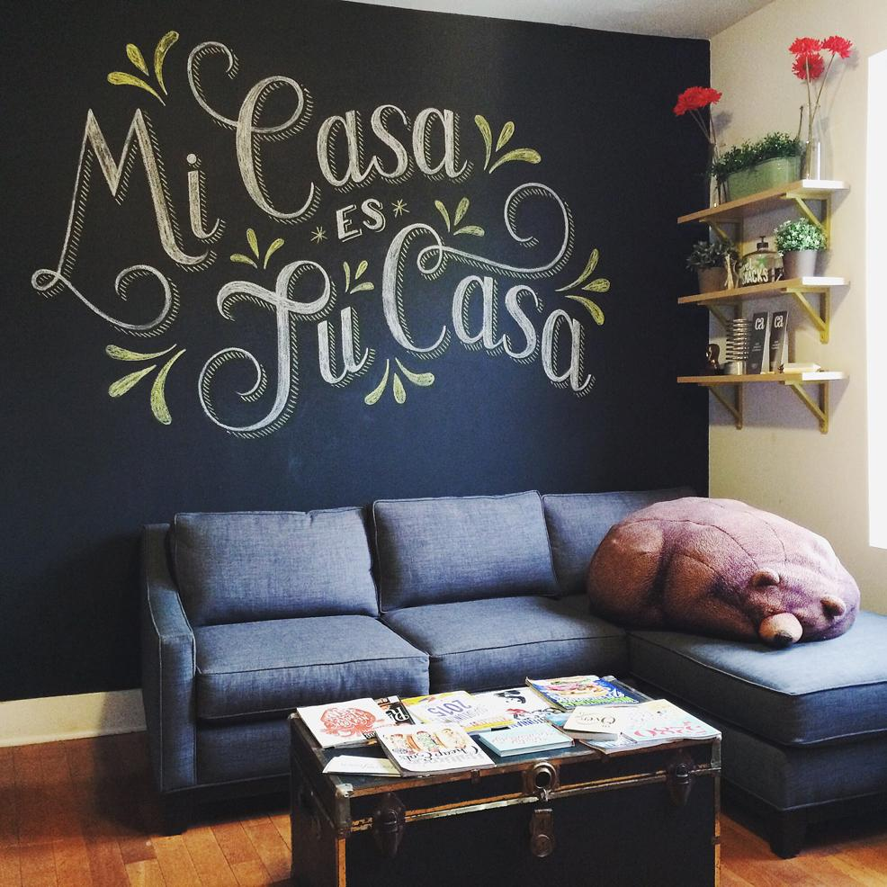 The Finished Piece From My Skillshare Class Displayed In My Very Own Living  Room! Mi Casa Es Tu Casa, My House Is Your House, My Sleepy Bear Bean Bag  Chair ...