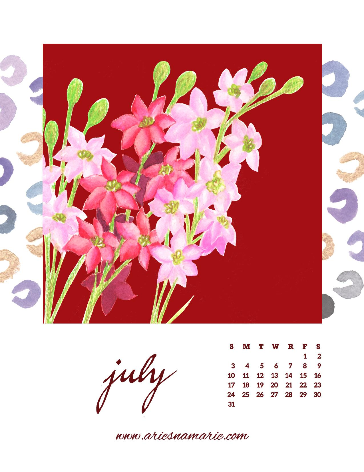 Birth Month Flowers Calendar | Skillshare Projects