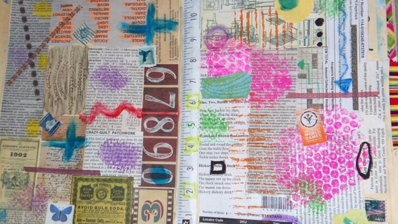 Recycled file folder Art Journal