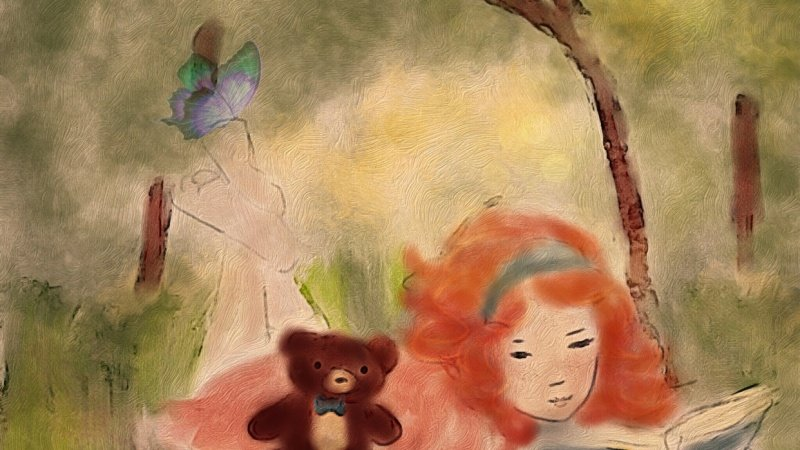 Penelope & Beatrice: A girl, her bear, & a library card