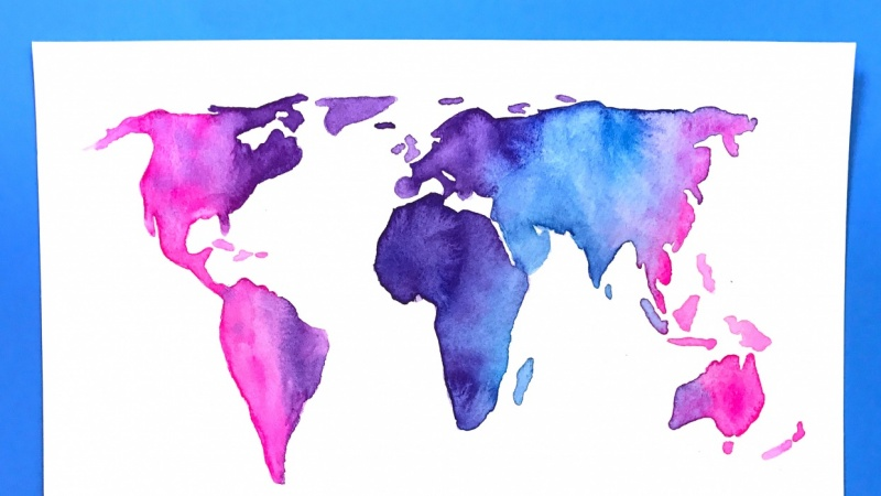 Sample Project: Watercolor World Map