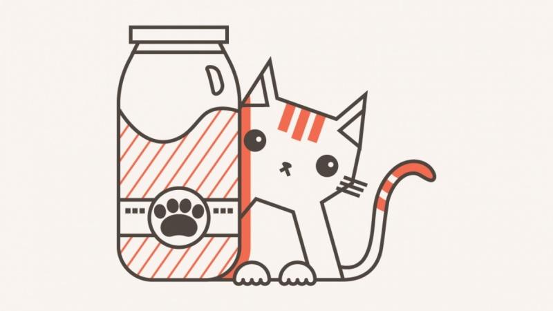 Cat Behind Milk Bottle
