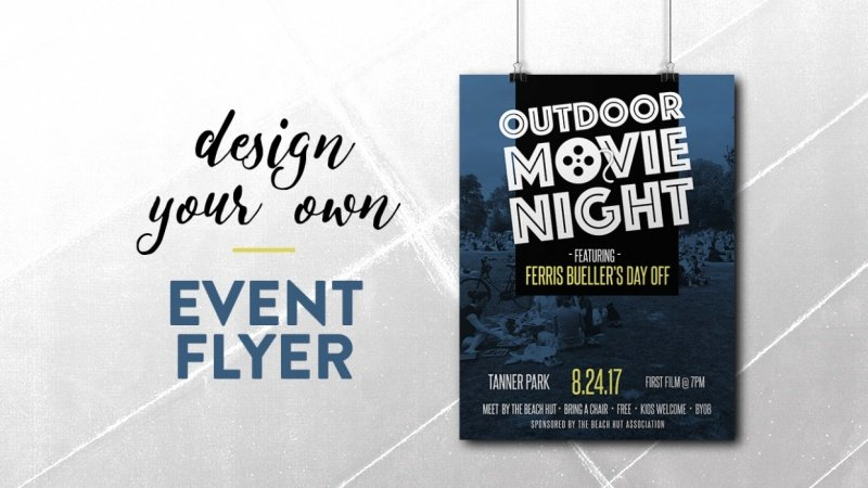 design your own event flyer