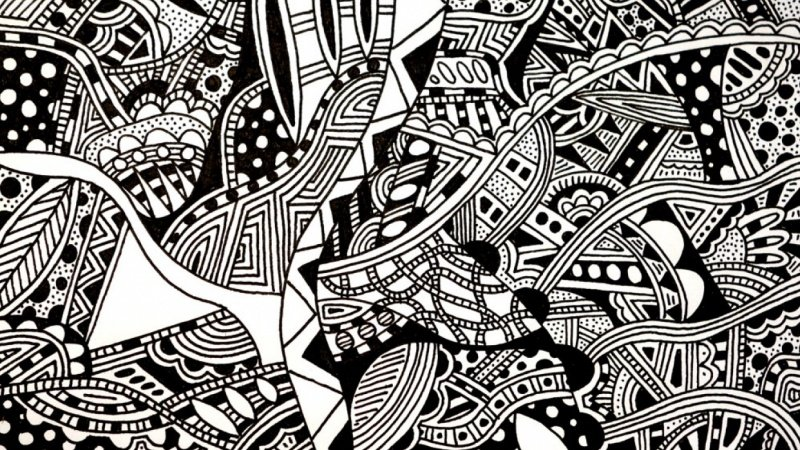 Curvy and Organic Doodle Art: Sample Project