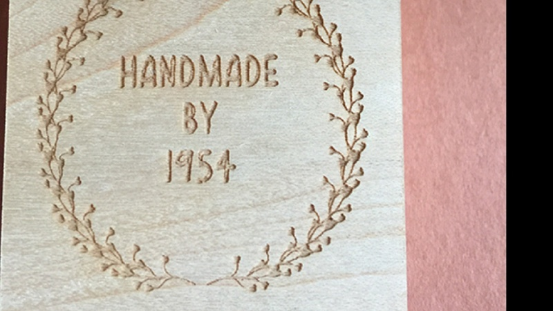 Handmade by 1954 stamp