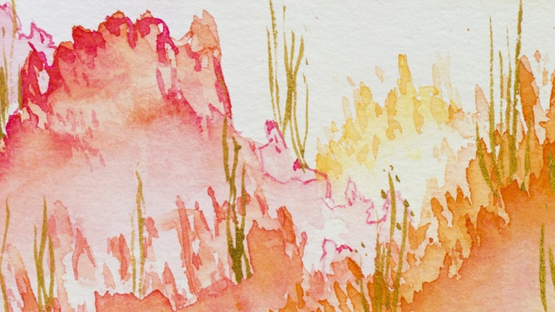 Sample Project - Watercolor Postcards!