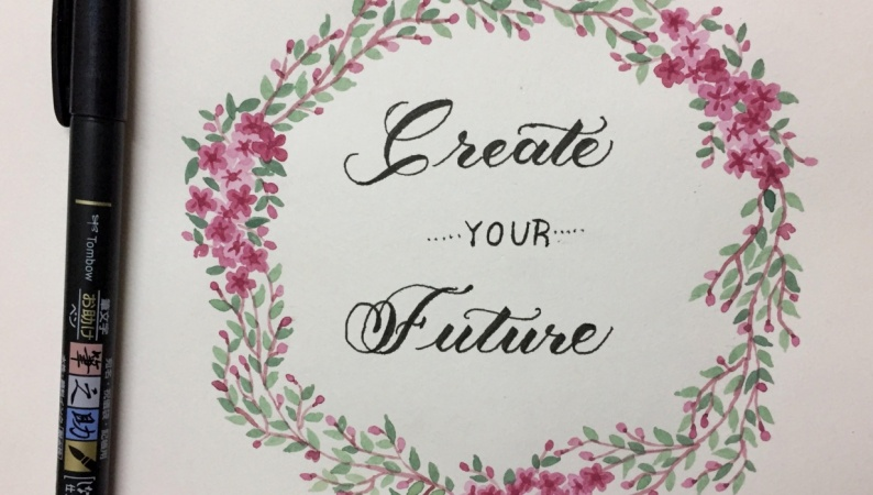 Lettering and Floral Wreaths