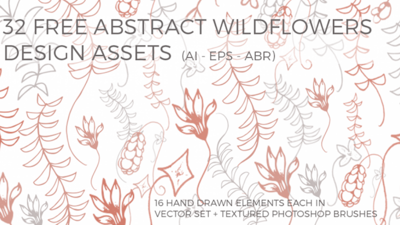 Abstract Wildflowers Brush Pack