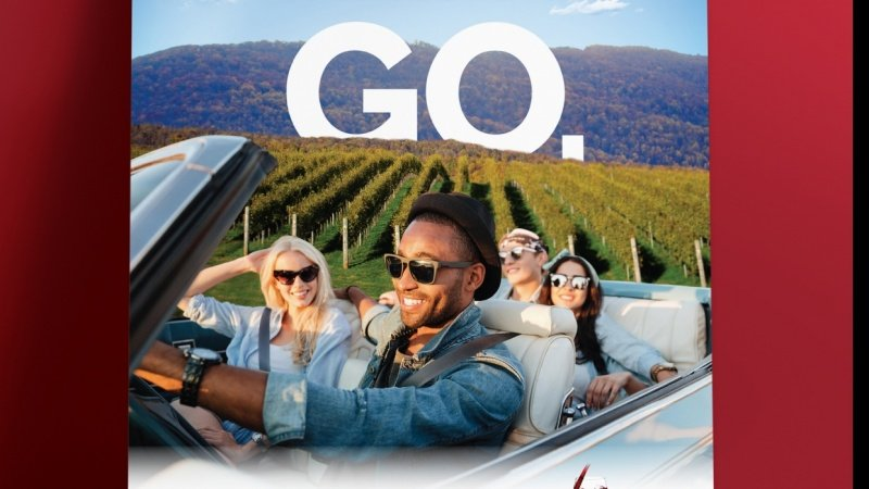 Wine Tourism Campaign Poster and Print Ad