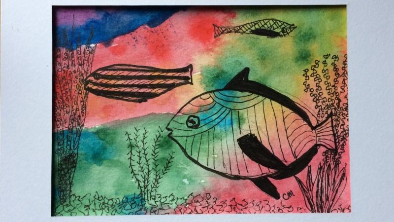Simple Aquarium Fish Doodle