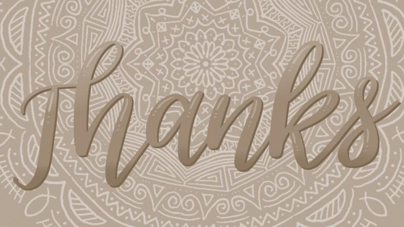 Ombré lettering over an Amaziograph mandala