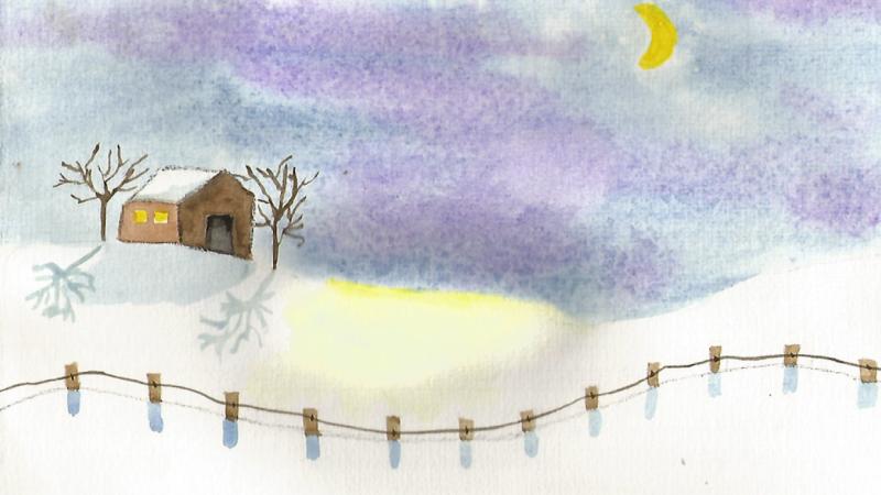 Watercolour Lesson 7 - Winter cabin with Doris Charest