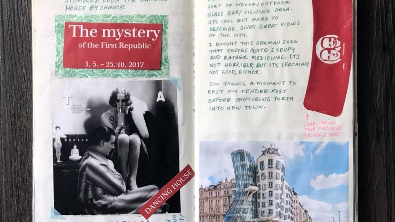 Travel Journal Spreads (Teacher Sample Project)