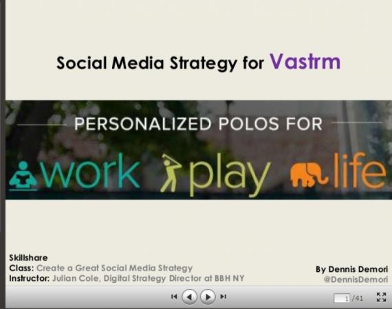Skillshare Final Assignment: Vastrm Social Media Strategy