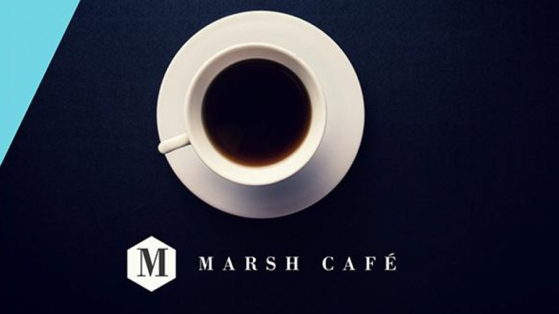 Cafe Poster and Business Card - Created all in Canva! Quick and Fun.
