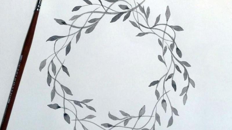 Inky Wreath