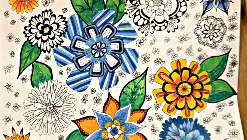 Tangle Flower Zen Doodle Art   Tiffany Lovering   Skillshare