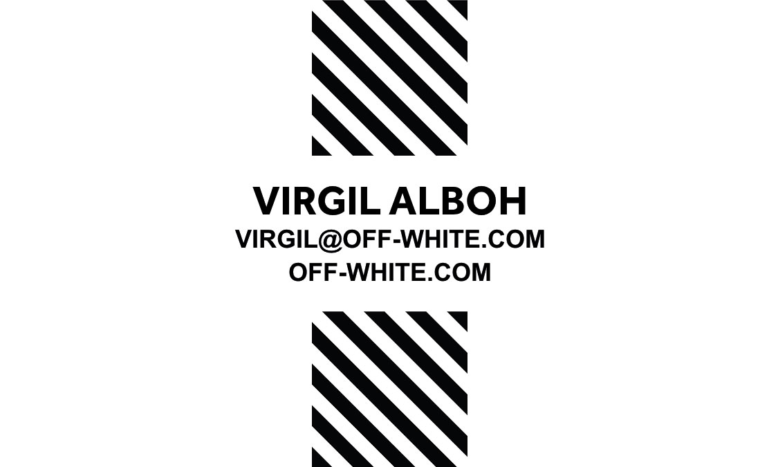 Business cards for three of my favourite clothing brands i went for a minimalistic style and tried to make the cards suit the brands the brands are whyred odd future and off white colourmoves