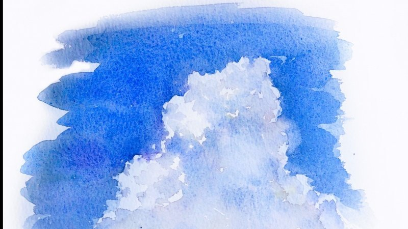 soft watercolor clouds
