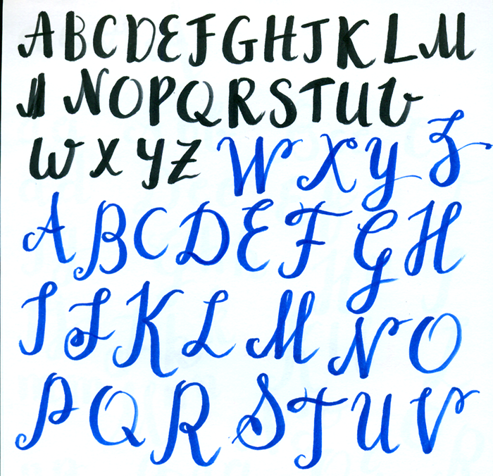 UPDATE Jan 18 Brush Lettering Process