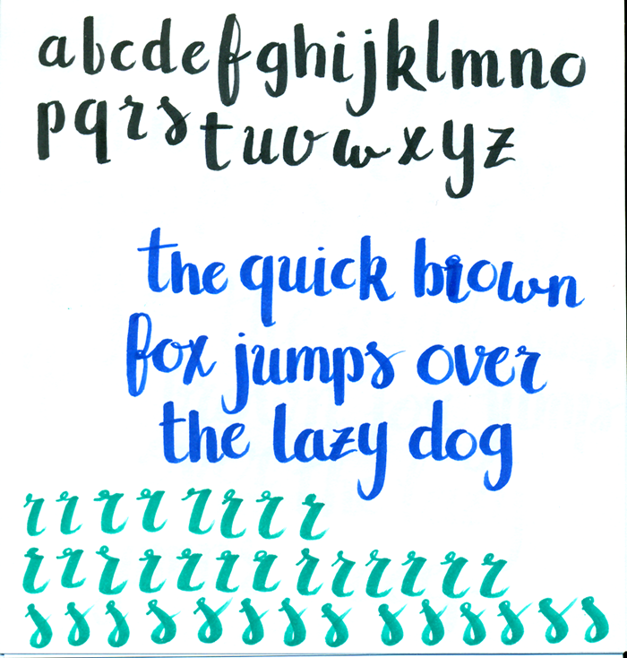 I Think This Is The Most Standard Brush Lettering Alphabet Could Find Really Messed Up That R ThereR And S Are My Hardest Letters For One