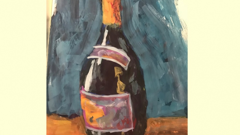 Still life sketch in gouache